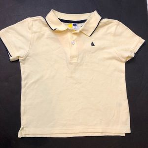 Janie and jack yellow polo